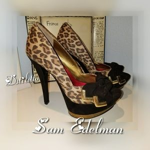 Circus SAM EDELMAN Cheetah Bow Platform Heels